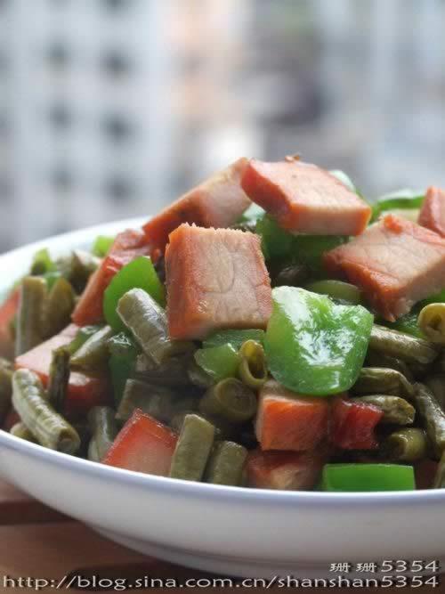 酸豆角炒圆椒 酸豆角炒圆椒的做法,怎么做,如何做好吃,图解详细步骤