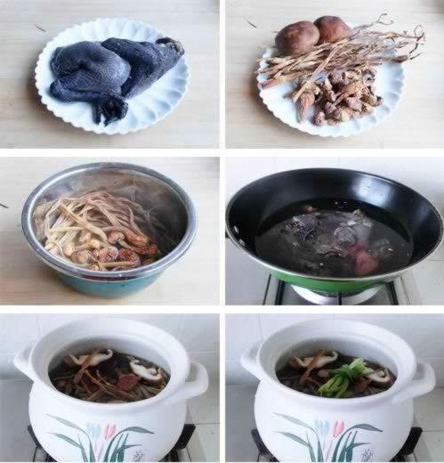 松茸乌鸡汤的做法
