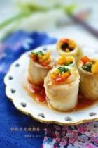 茄汁彩蔬鱼卷的做法