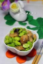 蚝油蚕豆草菇的做法