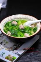 小白菜氽丸子的做法