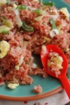 红曲素食炒饭的做法