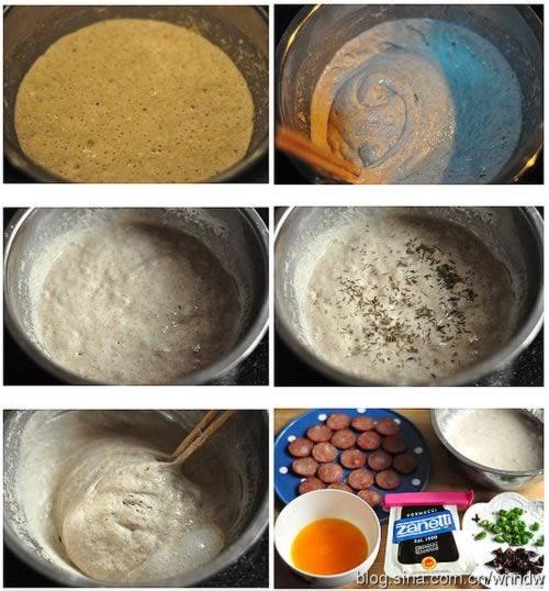 平底锅红肠全麦发糕饼的做法
