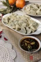 蛤蜊萝卜苗水饺的做法