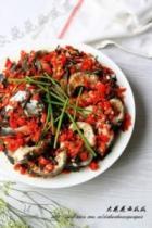 剁椒芽菜鱼扇的做法