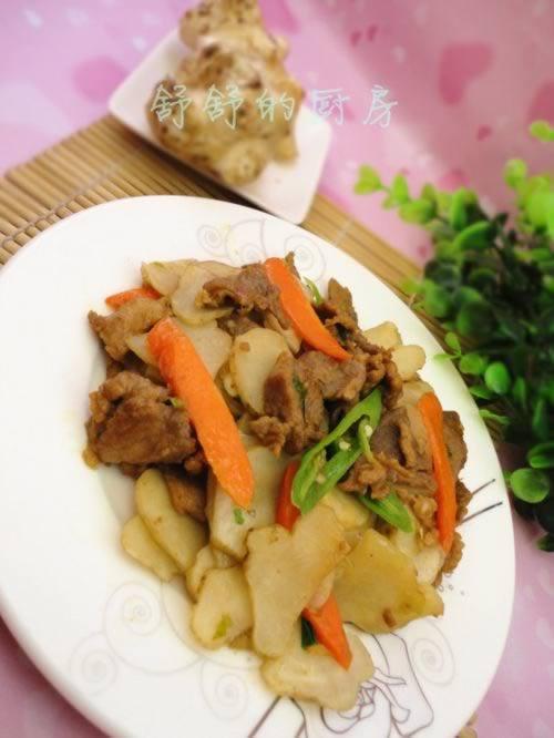 洋姜炒肉片的做法