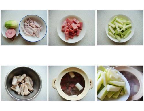 火腿萝卜鸭翅汤的做法
