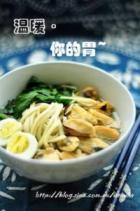 淡菜菠菜鹌鹑蛋面的做法