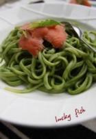 泰式炒春菠和菠菜三文鱼意大利面的做法
