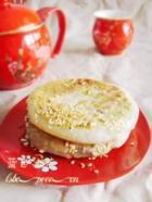 奶香味十足的芝麻酥饼的做法