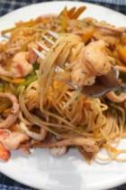 菜蔬海鲜意面的做法