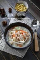 豆浆鸡丝乌冬面的做法