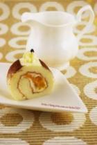 奶油芒果戚风蛋糕卷的做法