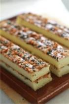 肉松海苔芝麻蛋糕的做法