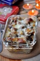 奶酪焗红烧肉意面和梅菜肉汁意面的做法