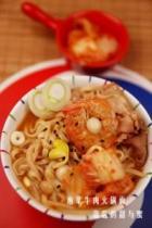 韩式泡菜牛肉火锅面的做法