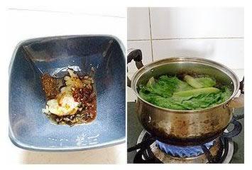 图解 小面/小面的做法跟燃面不同,燃面是干拌的,而小面里会加猪骨汤。