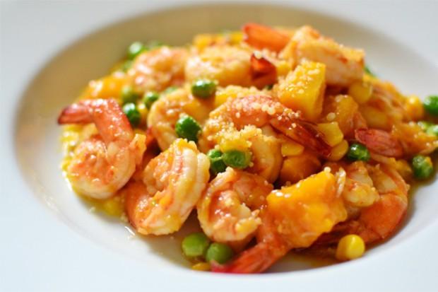 芒果酱炒虾的做法,怎么做,芒果酱炒虾如何做好吃详细步骤图解