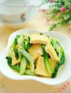 小白菜炒豆腐的做法