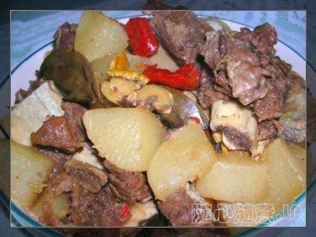 牛排骨炖萝卜的做法,怎么做,牛排骨炖萝卜如何做好吃详细步骤图解