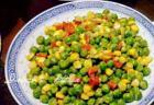 豌豆玉米炒胡萝卜的做法