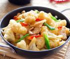 香辣干锅花菜的做法