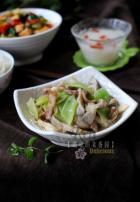 蘑菇青笋炒肉片的做法