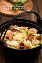 干锅培根手撕包菜的做法