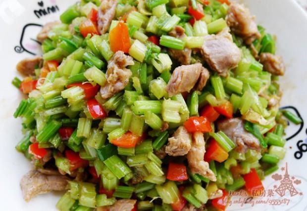 羊肉炒芹菜的做法,怎么做,羊肉炒芹菜如何做好吃详细步骤图解