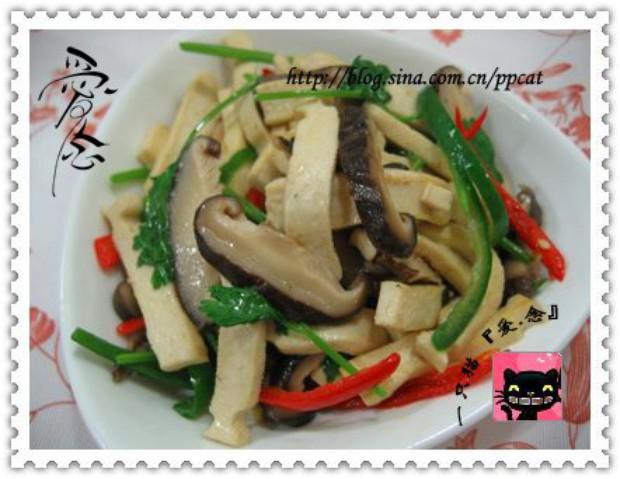 下饭菜香菇炒豆干的做法,怎么做,香菇炒豆干如何做好吃详细步骤图解
