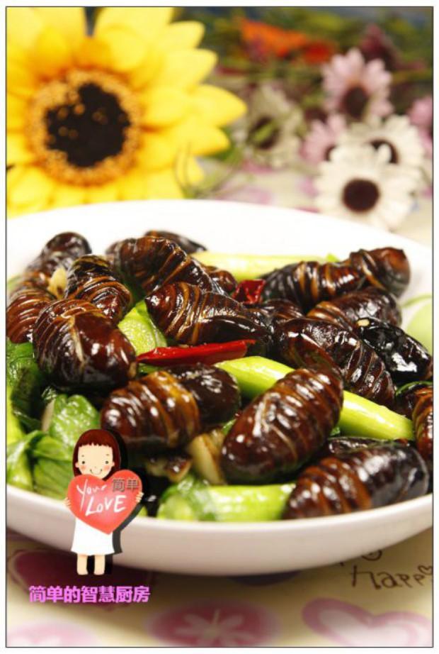 营养宴客菜炒蚕蛹的做法,怎么做,炒蚕蛹如何做好吃详细步骤图解