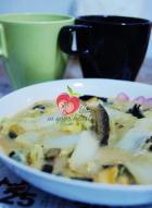 白菜燴淡菜的做法