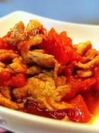 茄汁肉片的做法
