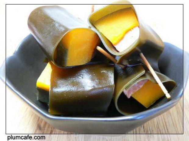 海带南瓜肉卷儿的做法,怎么做,海带南瓜肉卷儿如何做好吃详细步骤图解