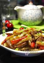 滑炒牛肉藕条的做法