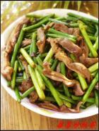 蒜苔炒肚条的做法