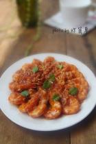 蒜蓉茄汁虾的做法