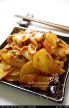 泡菜土豆片的做法