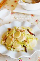 黄芽菜肉丝炒年糕的做法