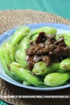 蚝油青菜牛肉的做法
