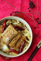 带鱼扒白菜的做法