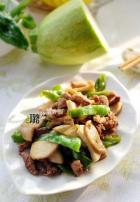 青椒杏鲍菇炒肉丝的做法