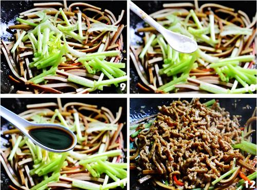 第4步香干炒肉丝的家常做法图片步骤
