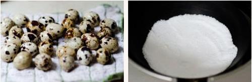 第3步盐焗鹌鹑蛋的家常做法图片步骤