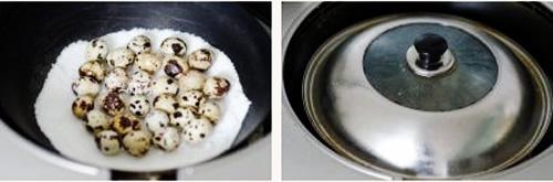 第4步盐焗鹌鹑蛋的家常做法图片步骤