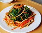 野生荠菜拌豆干的做法