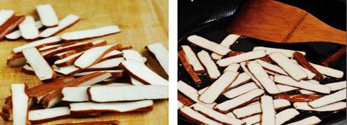 第3步水芹菜炒香干的家常做法图片步骤