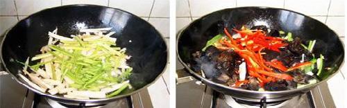 第4步木耳炒藕的家常做法图片步骤
