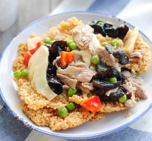 清爽酥脆的锅巴肉片的做法图解,如何做,锅巴肉片怎么做好吃