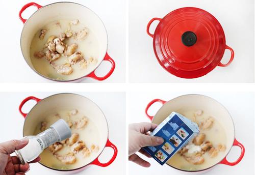第4步法式白汁烩鸡的家常做法图片步骤